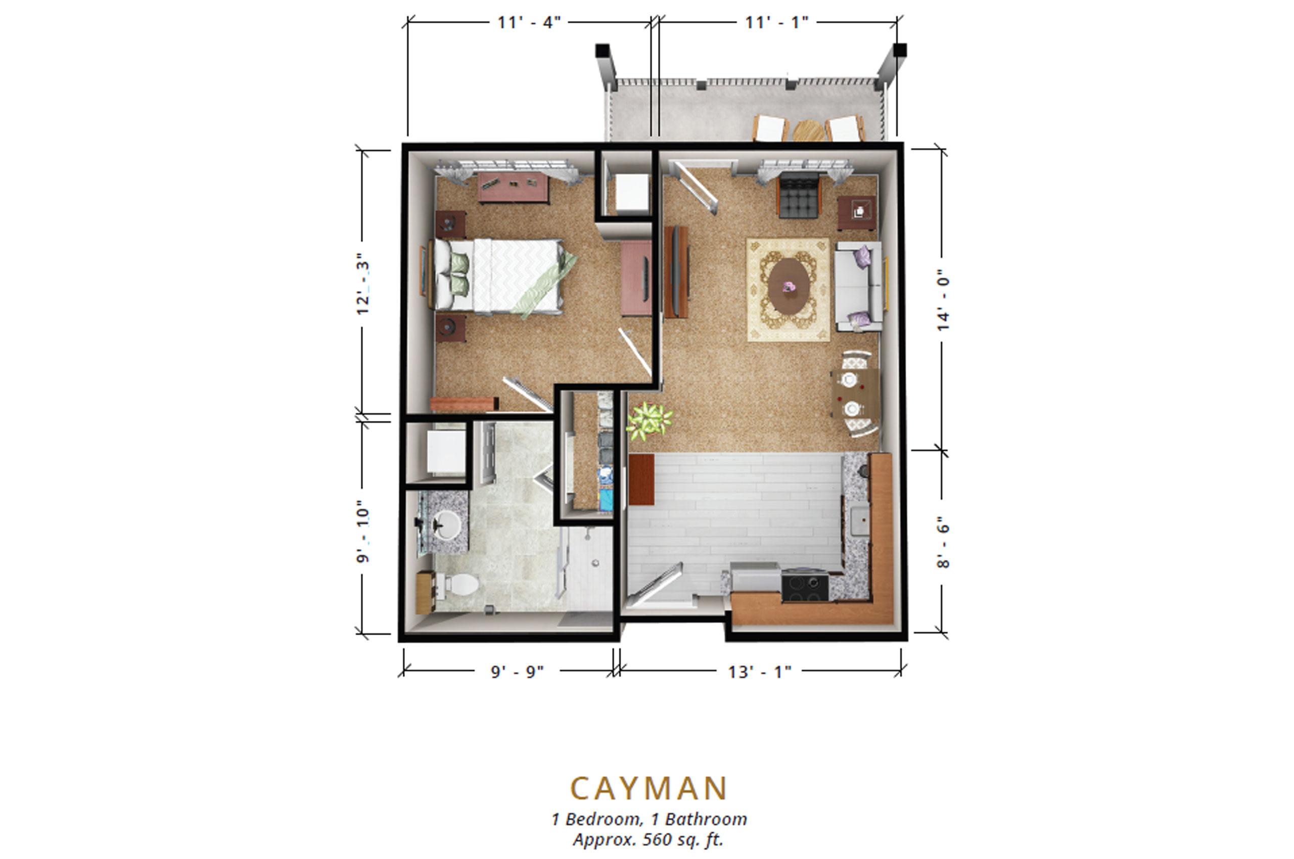 Caymen | One Bedroom